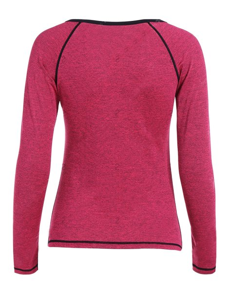 Heather Skinny Pullover Gym T-Shirt
