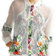 Active Long Sleeve Spliced Hollow Out Jacket for Women USA