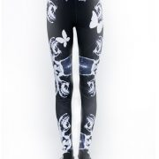 butterfly-and-plaid-print-fitted-yoga-pants-USA