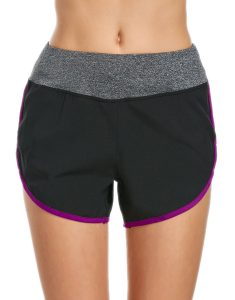 Buy Contrast Drawstring Running Shorts From Gym Clothes Store in USA & Canada