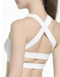 Buy Criss Cross Padded Sports Bra From Gym Clothes Store in USA & Canada