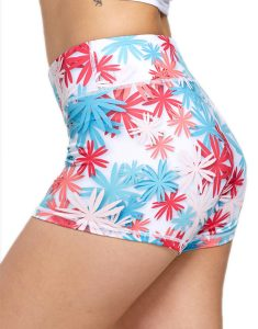 Buy Floral Print Mini Gym Shorts From Gym Clothes Store in USA & Canada