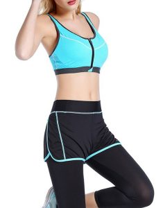 Front Zipper Push Up Sports Bra Online