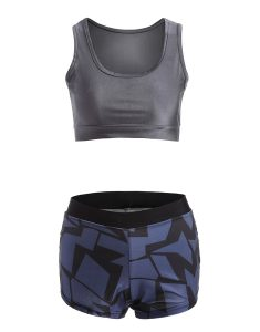 Buy Geometric Print Stretchy Gym Outfits From Gym Clothes Store in USA & Canada