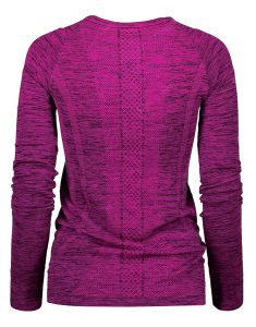 Buy Heathered Long Sleeve Running Top From Gym Clothes Store in USA & Canada
