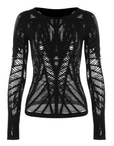 Buy Long Sleeve Sheer Ripped Sports T-shirt From Gym Clothes Store in USA & Canada