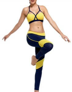 Buy Padding Cutout Sports Bra And Leggings From Gym Clothes Store in USA & Canada