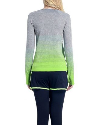 Round Neck Ombre Yoga Gym T-Shirt