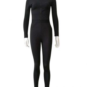 Skinny Hooded Gym Jumpsuit