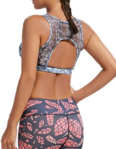 Buy Tie Dye Padded High Impact Sporty Bra From Gym Clothes Store in USA & Canada