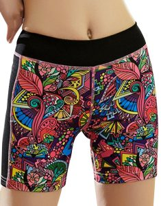 Buy Tropical Print Quick Dry Sports Shorts From Gym Clothes Store in USA & Canada