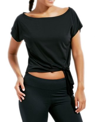 active-cropped-front-tie-t-shirt-usa