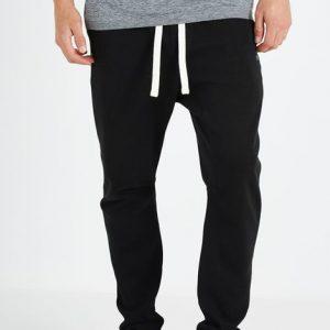 black-double-knit-gym-pant