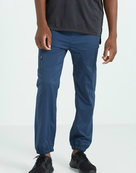 blue performance jogger for men