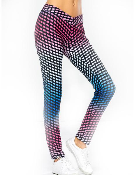 elastic-dot-print-sport-pants-usa