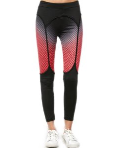 Elastic Workout Leggings With Fishnet Print Online