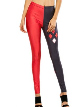 geometric-print-contrast-stretchy-leggings-USA
