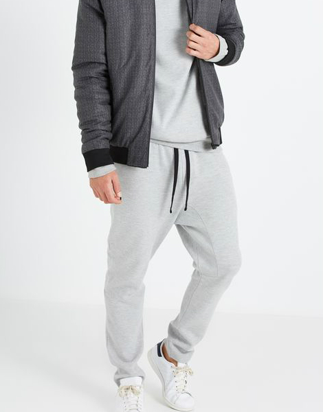grey double knit gym pant