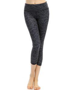 Pattern High Waist Cropped Yoga Leggings Online