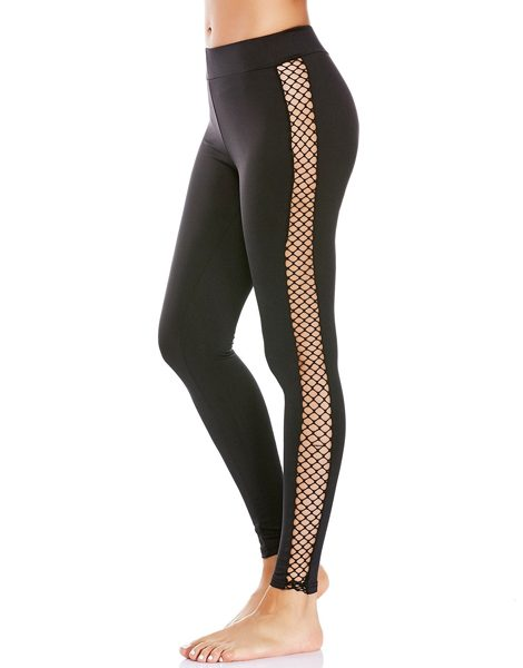 38bc3155646 Wholesale Sheer Mesh Fishnet Panel Workout Leggings From Gym Clothes