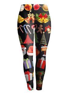 Stretchy Christmas Ornate Printed Slimming Leggings Online