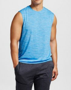 Mens Blue Gym Tank Tee Online