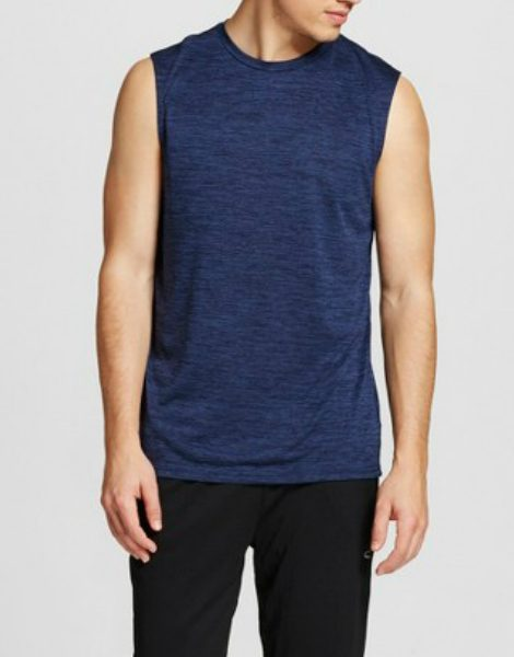 0431ba9b029026 Wholesale Mens Sleeveless Blue Tank Tee From Gym Clothes