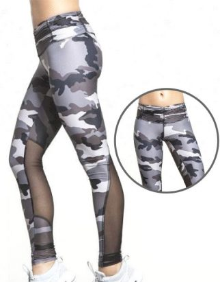 Camo Print Paneled Sublimated Yoga Leggings Manufacturer