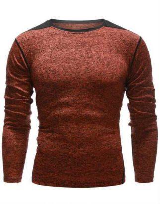 Custom Contrast Panel Full Sleeve T Shirt