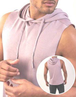 Purple Sleeveless Fitness Hoodie Manufacturer
