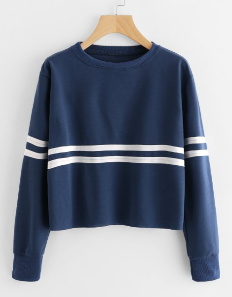 contrast-striped-fitness-sweatshirt