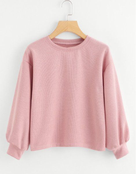 lantern-sleeve-gym-sweatshirt