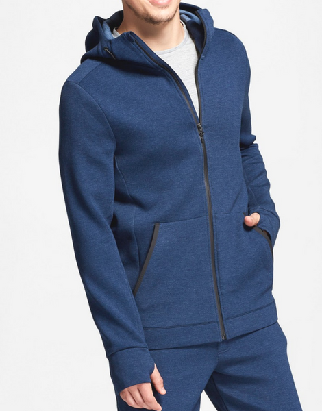 Navy Blue Full Zip Sweatshirt