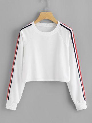 stripe-tape-fitness-pullover