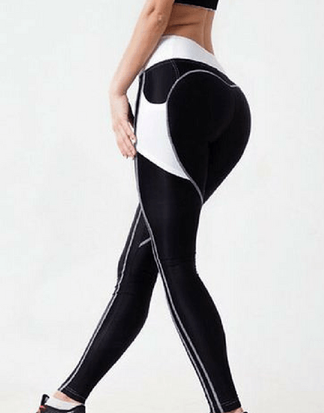 Gym Leggings With Side Mesh Pocket