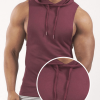 Sleeveless Hoodie Workout Stringer Wholesale