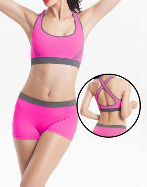 Custom Seamless Sports Bra And Shorts Manufacturer