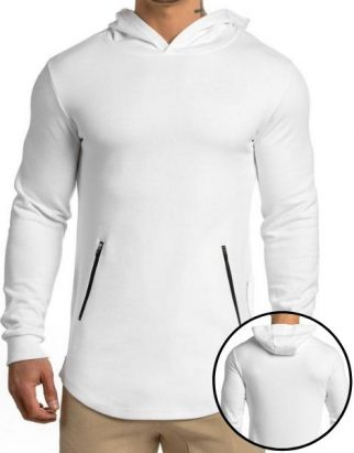 White Fitness Hoodies Manufacturer