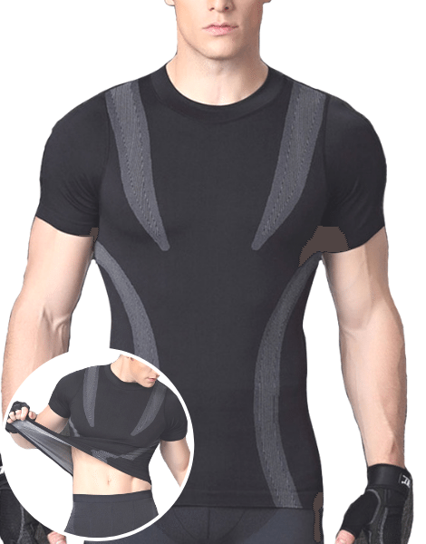 Anti-wrinkable Fitness Shirts Manufacturers