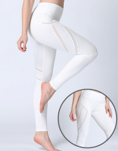 High Waist Mesh Yoga Leggings Manufacturers