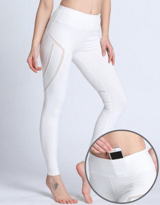 High Waist Mesh Yoga Leggings Manufacturers CA