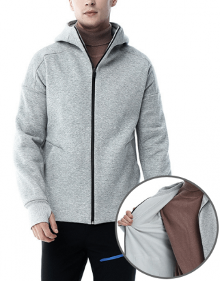 Gray Heated Down Jacket Manufacturer USA