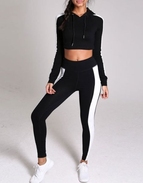 Wholesale Side Panel Crop Tracksuits