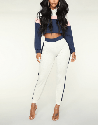 Custom Two Tone Breathable Women Tracksuits Manufacturer