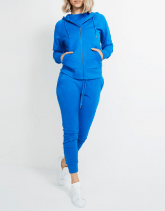 Wholesale Blue Hooded Tracksuit For Women USA