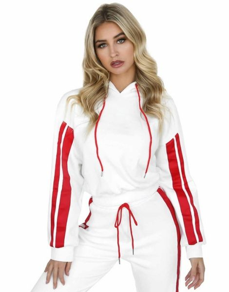 Bulk Dual Tone Hooded Tracksuits For Women