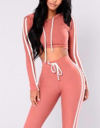 Custom Hooded Sport Tracksuits For Women