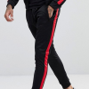 Custom Polyester Active Track Suit With Side Stripes