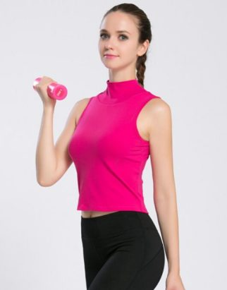 Wholesale High Collar Fitness Tank Top Manufacturers