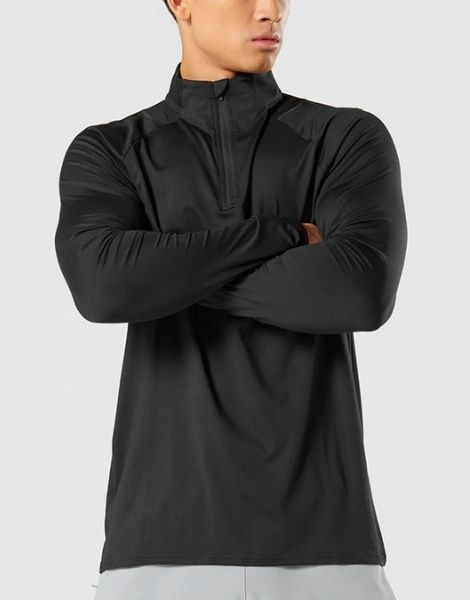 Wholesale Black 1/4 Zip Sweatshirts